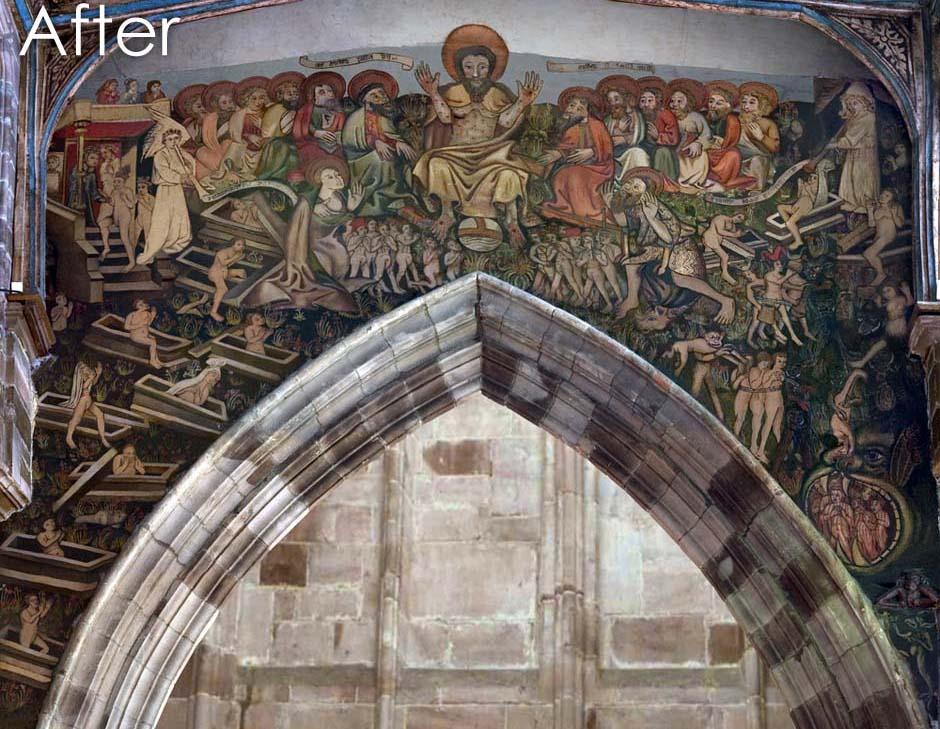 Doom painting after digital restoration