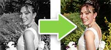 Photo Hand Tinting Service UK - wedding photo editing company UK
